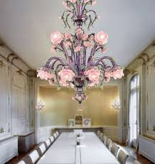 traditional chandelier blown glass murano glass incandescent