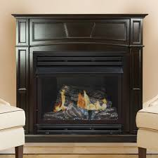 full size vent free gas fireplace in