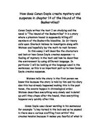 how does conan doyle create suspense in the hound of the page 1 zoom in