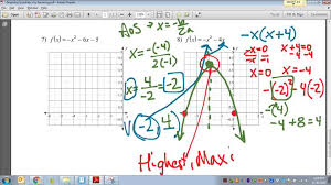 common core math graphing quadratic equations from standard form more examples