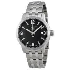 tissot prc 200 quartz black dial stainless steel sport mens watch zoom tissot tissot prc 200 quartz black dial stainless steel sport mens watch t0554101105700