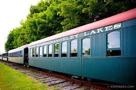 vintage train portland maine color