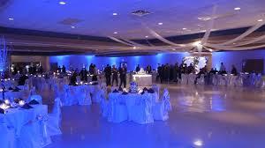 wedding uplighting at k of c in lima ohio blue wedding uplighting