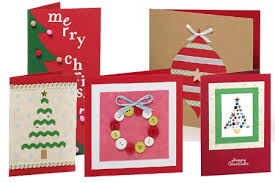 Home Made Christmas Cards U2013 Kids Craft  StayathomelifeChristmas Card Craft Ideas