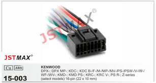 jstmax car dvd radio stereo iso cable 16pin adapter for kenwood 256 car radio wire connectors at Car Stereo Wire Connector