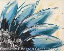 2062 blue daisy love paint and sip picasso s gvine wine painting parties in michigan painting studio wine painting parties clarkston