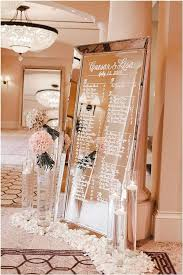 Mirror Wedding Seating Chart Seating Chart Signs Mywedding