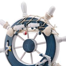 wooden anchor wall decor unique mediterranean style wood ship wheel wall hanging diy decoration