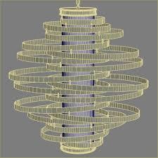 chair gorgeous corbett vertigo chandelier 13 lighting 3d model low poly max obj fbx mtl gorgeous