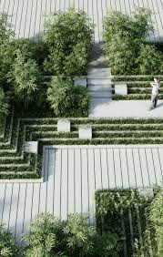 Small Picture Penda combines stepwells with water mazes for garden design