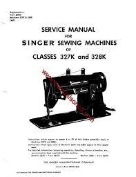 Singer Sewing Machine 328k Manual