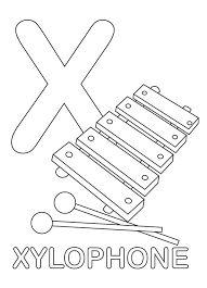 Coloring pages, color posters, handwriting. Xylophone Letter X 2 Coloring Page Free Printable Coloring Pages For Kids