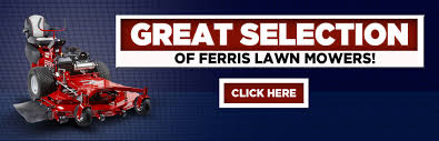 we have a great selection of ferris lawn mowers here to view them