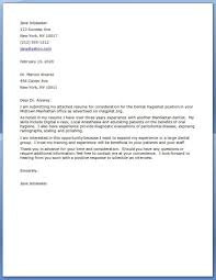 Dental Assistant Cover Letter Job And Resume Template