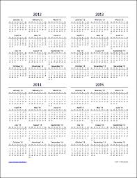 Multi Year Planner Download The Multi Year Calendar Template From Vertex42 Com