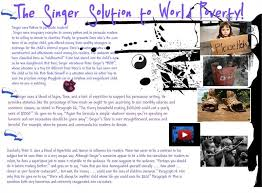 the singer solution to world poverty essay the singer solution to  the singer solution to world poverty quot the singer solution to world poverty quot