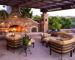 Innovation Covered Patio Designs With Fireplace Design