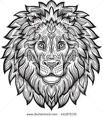 Small Picture Lion Head Tattoo Stock Vector 161634716 Shutterstock
