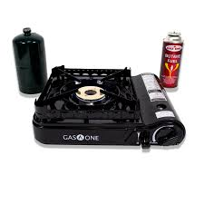 portable stove top burner. gas one 15,000 btu portable propane or butane dual fuel stove with brass burner head top