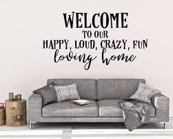 welcome to our home wall decal welcome wall decal home decor happy home decals happy home art wall art
