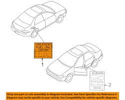 subaru oem 98 16 forester labels fuel label 10024aa160 subaru oem 98 16 forester labels fuel label 10024aa160