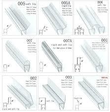 precious glass shower door seal strip glass shower door plastic strip plastic rubber bath shower screen