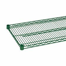 Plastic Coated Wire Racks Thunder Group Green Epoxy Wire Shelving CMEP100 Kitchen Of Glam 2