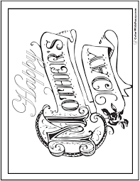 Choice of mom, mum, grandma and stepmom. Happy Mothers Day Coloring Page