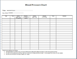 30 Day Chart Template 30 Blood Pressure Chart Template Simple Template Design