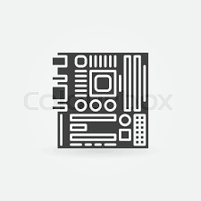 computer motherboard icon or logo vector pc simple component computer motherboard icon or logo vector pc simple component symbol vector
