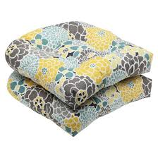 Pillow Perfect™ 2 Piece Outdoor Wicker Seat Cushions Lois Tar