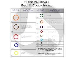 O Ring Colour Chart O Ring Color Index Planet Eclipse Ego Flasc Paintball