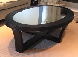 black oval coffee table
