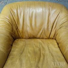 Lederen Vintage Woonkamer Set Bankfauteuil