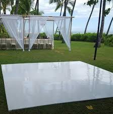 white vinyl floor topper