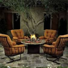 ow lee monterra spring club chairs with fire pit table
