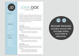 Classic Blue Word Resume Template Resume Templates Creative Market