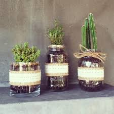Photo of Jasmine's Garden - Hollywood, CA, United States. Succulents in mason  jars