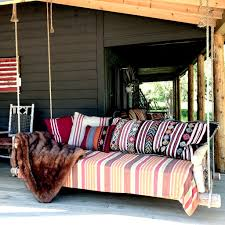 Porch Swing Bed Porch Swing Bed In Cedar Custom Rustic Furniture