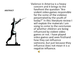 the psychological effects of violent video games slide show