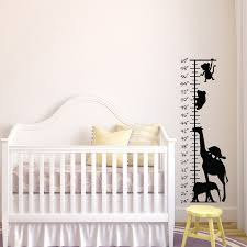 Kids Growth Chart Stick Us 9 98 15 Off Peel And Stick Safari Growth Chart Decal Removable Growth Chart Wall Sticker Art Mural For Nursery Kids Bedroom Home Decor L87 In