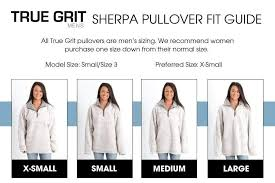 True Grit Size Chart Which Brand Of Sherpa Pullover Should I Get Gliks