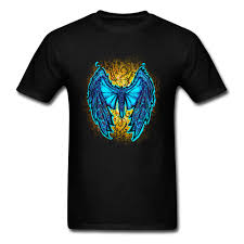 T Shirt Design For Drawing Us 6 9 40 Off Angel Butterfly Blue Specimen Drawing T Shirts Men Original T Shirt Designs 100 Greyhound Iron Fist Tshirt Loose Colorfast In