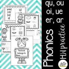 See our extensive collection of esl phonics materials for all levels, including word lists, sentences, reading passages, activities, and worksheets! Phonics Worksheet 7 Qu Ou Oi Ue Er Ar By Mrs Ouri Tpt