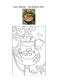 Matisse Colouring Pages By Mrsbourdon Teaching Resources