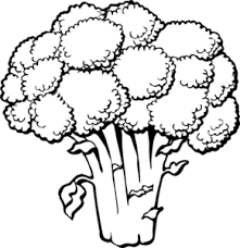 broccoli clipart black and white. Plain And Broccoli Black And White Clipart 1 For R
