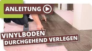 Über fußböden ohne dämmung kann im winter viel wärme entweichen. Vinylboden Durchgehend Ohne Dehnungsfuge Verlegen Youtube