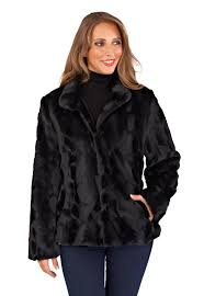 womens faux fur coat warm winter fluffy jacket