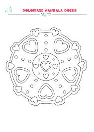 Mandala Coeur Colorier Facile Mandala Coeur Colorier Et Coeur