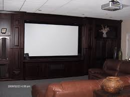 Home Theater Cabinet Home Theater With Projection Screen And Built In Cabinets